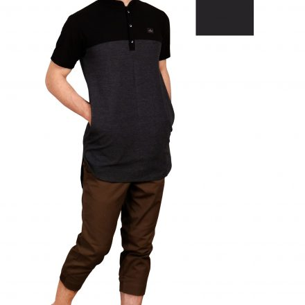KURTA SHIRT BLACK MISTY